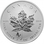 2014 Horse Privy Canadian Silver Maple Leaf (BU)