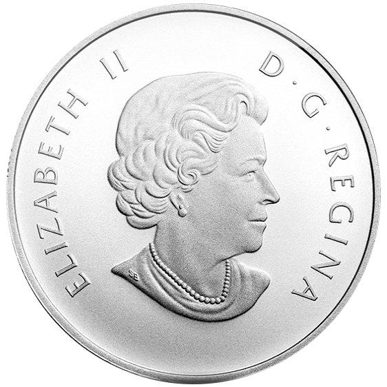 2014 1/2 oz Moose $10 Canadian Silver Coin