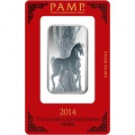 1 oz PAMP Suisse Horse Silver Bar (New w/ Assay)