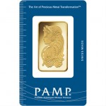 1 oz PAMP Suisse Gold Bar (New w/ Assay)