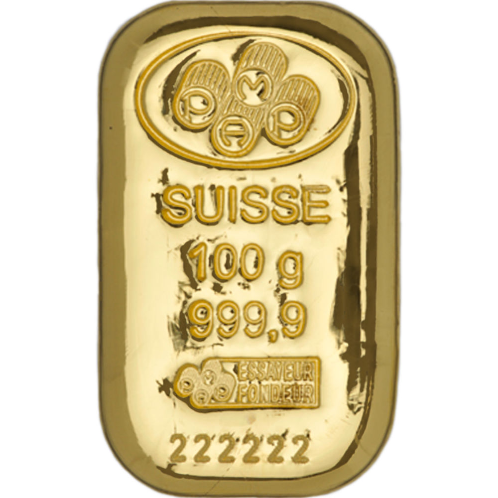 Buy 100 Gram Pamp Suisse Cast Gold Bars Silver Com