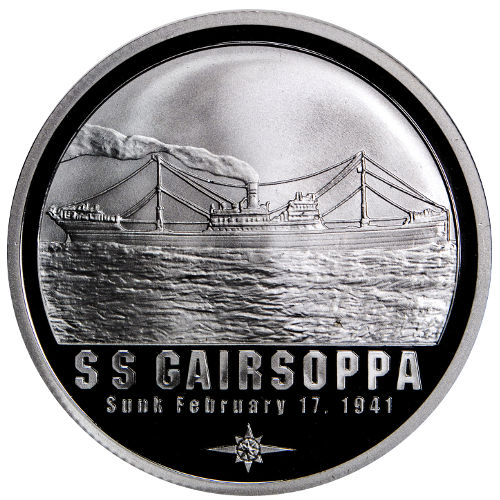 1 oz S.S. Gairsoppa Shipwreck Silver Round (New)