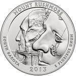 2013 5 oz ATB Mount Rushmore Silver Coin (BU)