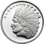 1 oz SilverTowne Indian Silver Round (New)