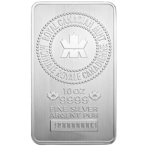 Buy 10 Oz Royal Canadian Mint Silver Bars Silver Com