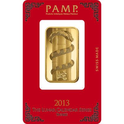 Buy 1 Oz Pamp Suisse Lunar Snake Gold Bars Silver Com