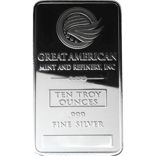 Buy 10 Oz Great American Mint Silver Bars 999 New