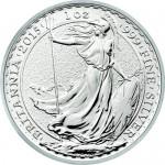 2015 1 oz British Silver Britannia Obverse