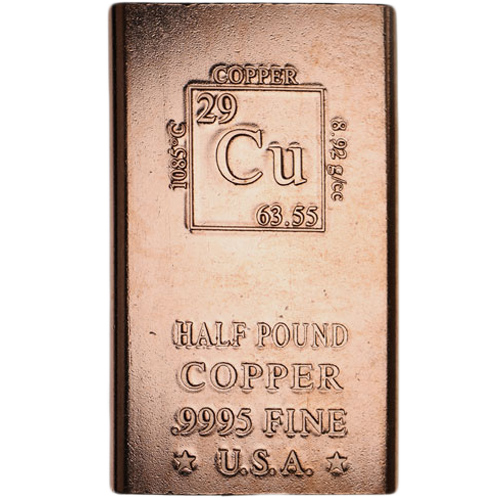 Buy 1 2 Pound Copper Bullion Bars New 999 Pure