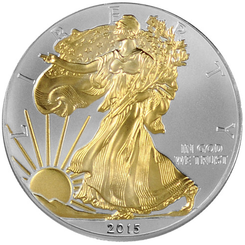 Buy 2015 1 Oz Silver American Eagle Coins Gilded Bu