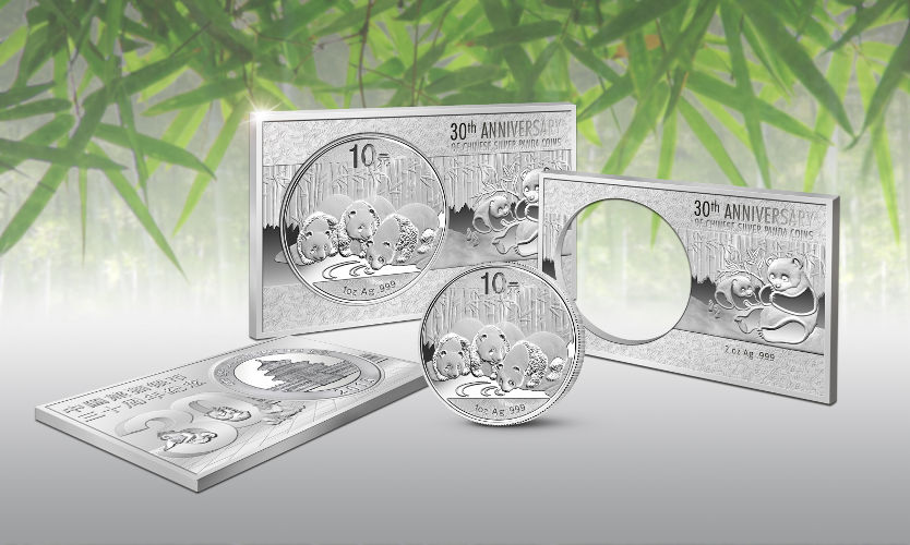 Buy 2013 3 Oz 30th Anniversary Silver Panda Bars Silver Com