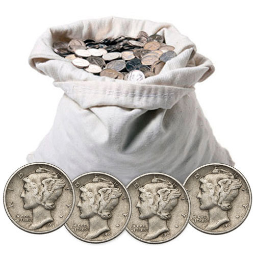 Buy 90 Silver Mercury Dimes 100 Face Value Silver Com