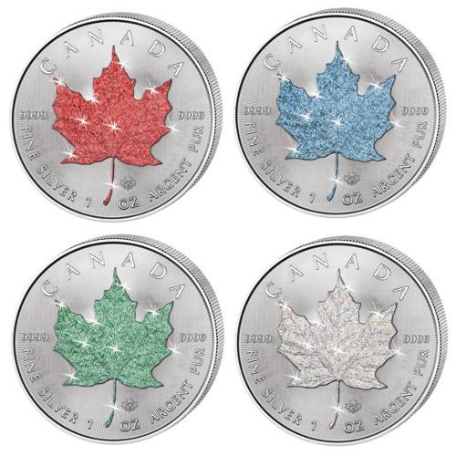Buy 2015 Four Seasons Silver Maple Leaf Coin Set Bu