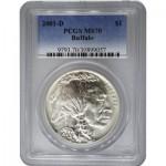 2001-d-silver-buffal-pcgs-ms70