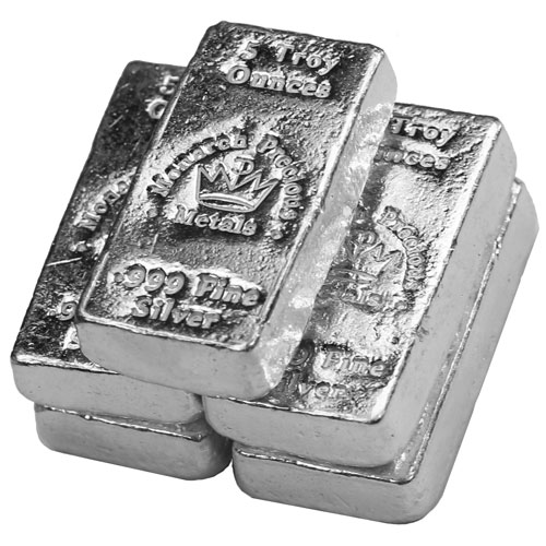 Buy 5 Oz Monarch Precious Metals Poured Silver Bars