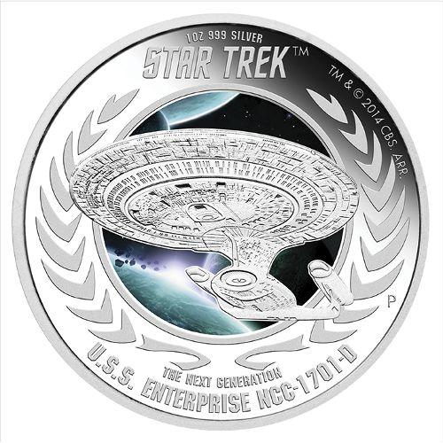 Buy 2015 1 Oz Star Trek U S S Enterprise Ncc 1701 D Coins