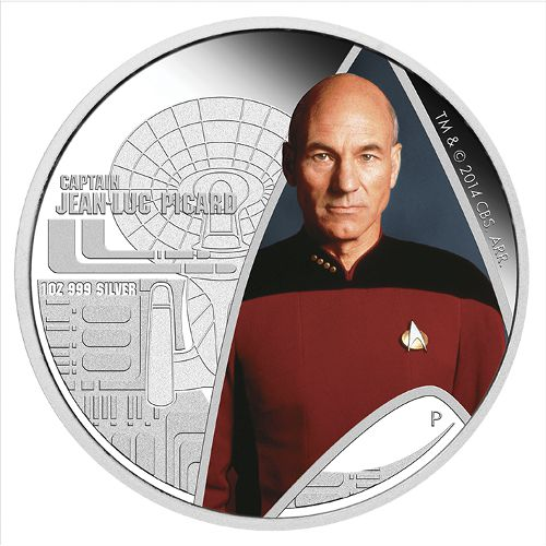 Buy 2015 1 Oz Star Trek Captain Picard Silver Coins New