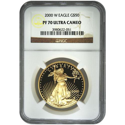 Buy 2000 W 1 Oz Gold Eagles Ngc Pf70 Ucam Silver Com