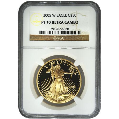 Buy 2005 W 1 Oz Proof Gold Eagles Ngc Pf70 Ucam Silver Com