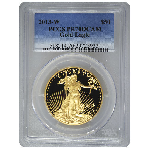 Buy 2013 W 1 Oz Gold Eagles Pcgs Pr70 Dcam Silver Com