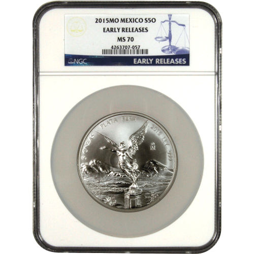Buy 2015 5 Oz Mexican Silver Libertads Ngc Ms70 Silver Com
