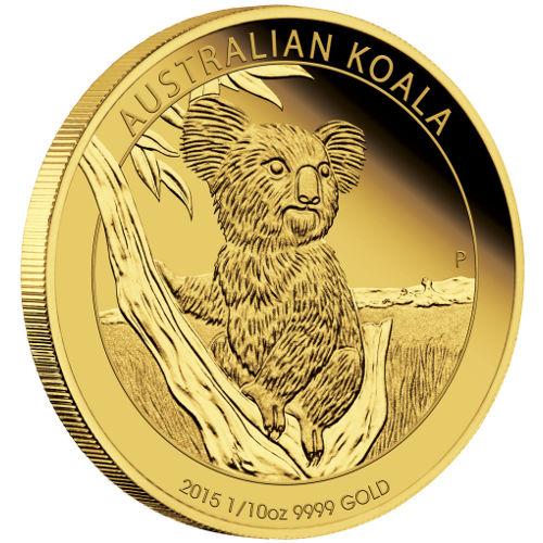 Gold Australian Platinum: Buy 2015 1/10 Oz Gold Australian Koalas (.9999, Proof