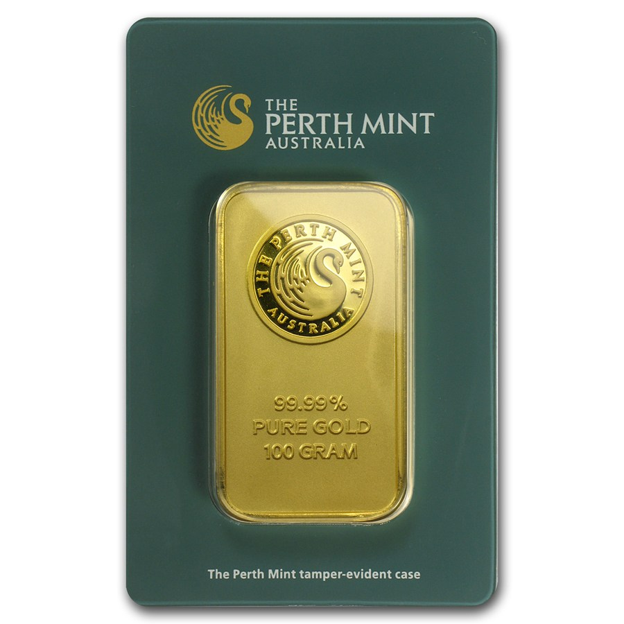 Buy 100 Gram Perth Mint Gold Bars Silver Com