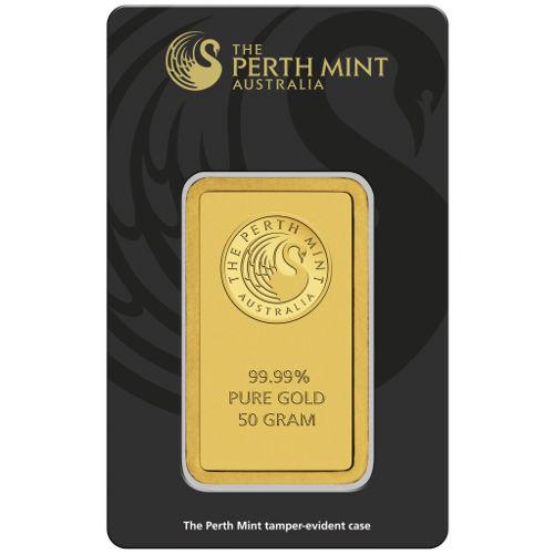 Buy 50 Gram Perth Mint Gold Bars New In Assay Silver Com