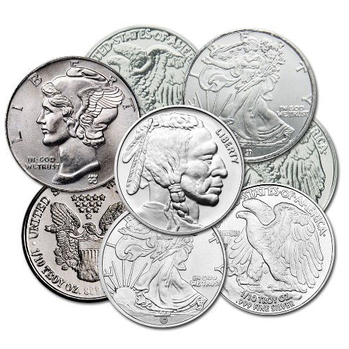 Buy 1 10 Oz Varied Silver Rounds 999 Silver Com