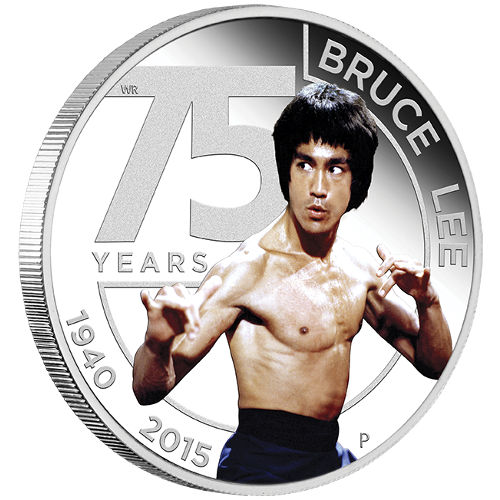 Buy 2015 1 Oz 75th Anniversary Of Bruce Lee Silver Coins