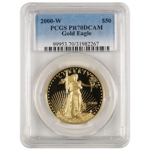Buy 2000 W 1 Oz Gold Eagles Pcgs Pr70 Dcam Silver Com