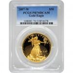 2007-w-1-oz-american-gold-eagle-pcgs-pr70-dcam-obv