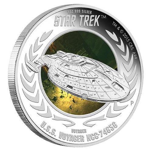 Buy 2015 1 Oz Star Trek U S S Voyager Coins Silver Com