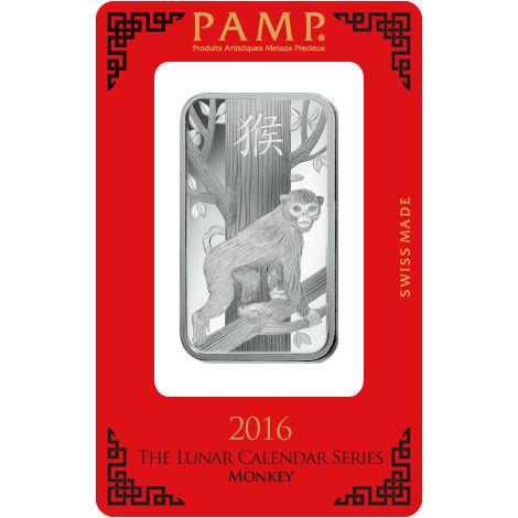 Buy 1 Oz Pamp Suisse Lunar Monkey Silver Bars Silver Com