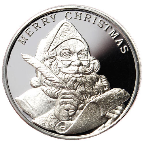 Buy 1 Oz Hm Christmas Silver Rounds 999 New Silver Com
