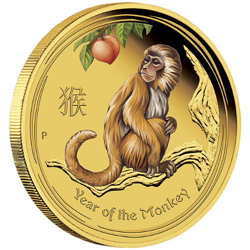 Buy 2016 1 4 Oz Colorized Gold Australian Monkey Coins