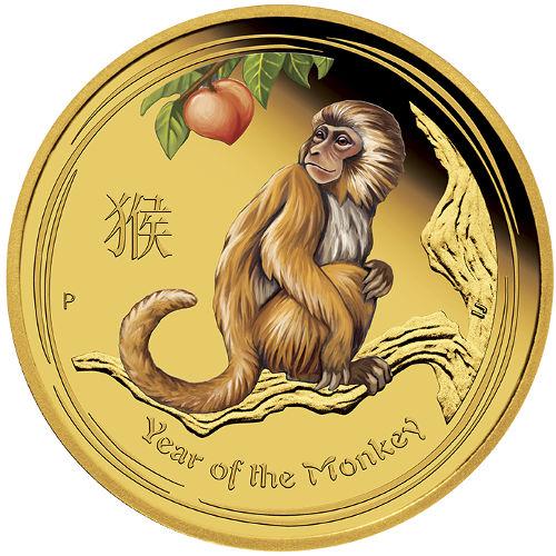 Buy 2016 1 Oz Gold Colorized Australian Monkey Coins