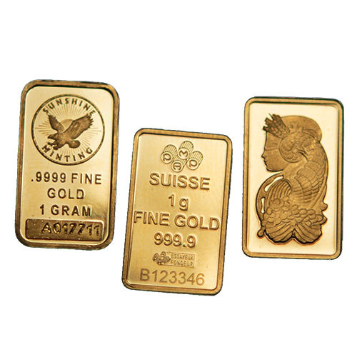 1 Gram Gold Bars Varied Condition Mint