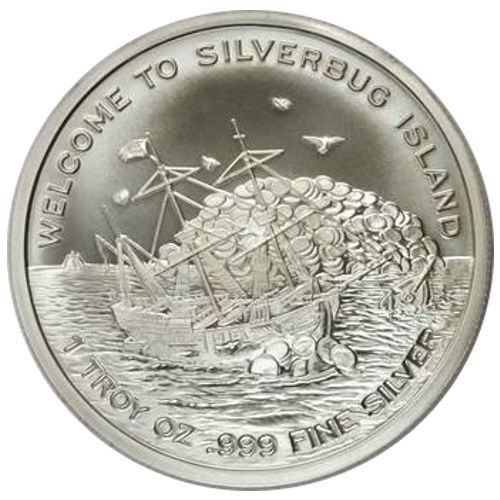 Buy 1 Oz Finding Silverbug Island Silver Rounds New