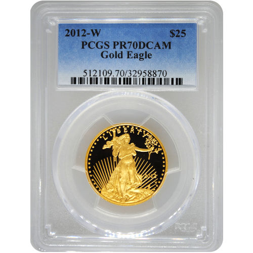 Buy 2012 W 1 2 Oz Gold Eagles Pcgs Pr70 Dcam Silver Com