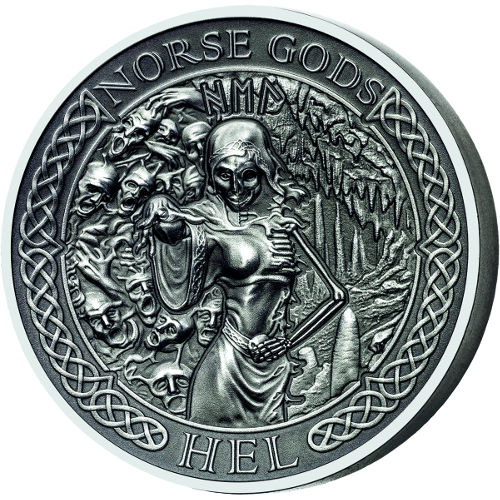 Buy 2015 2 Oz Silver Cook Islands Norse God Hel Coins