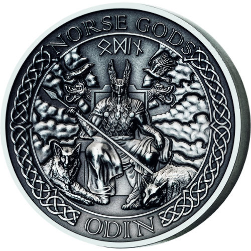 Buy 2015 2 Oz Silver Cook Islands Norse God Odin Coins