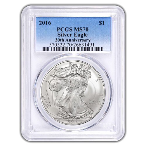 Buy 2016 Silver American Eagle Coins Pcgs Ms70 Silver Com