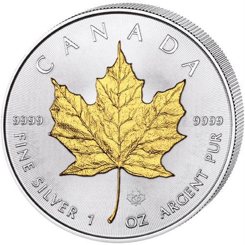 Buy 2016 1 Oz Silver Canadian Maple Leaf Gilded Coins