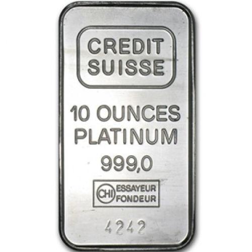 Buy 10 Oz Credit Suisse Platinum Bullion Bars Silver Com