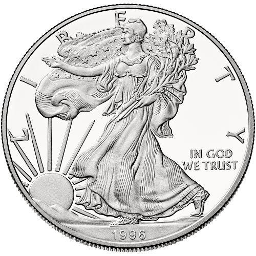 Buy 1996 P Proof Silver Eagle Coins Box Amp Coa Silver Com