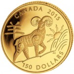 2015-150-gold-canadian-year-of-the-sheep-coins-rev