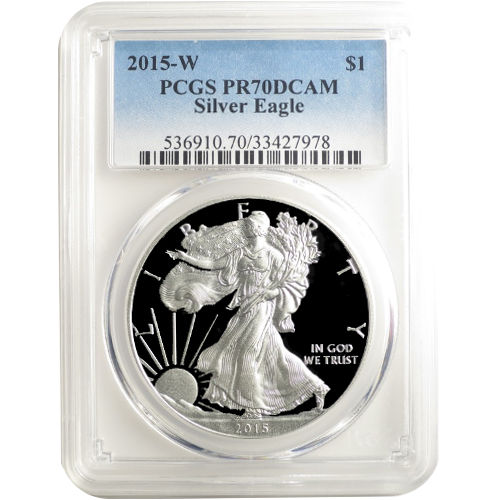 Buy 2015 W Proof Silver Eagle Coins Pcgs Pr70 Dcam