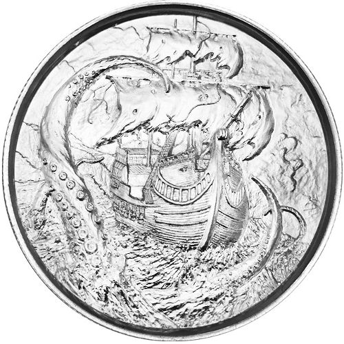 Buy 2 Oz Elemetal Kraken Silver Rounds Silver Com