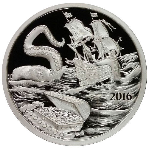 Buy 2016 1 Oz Silver Silverbug Proof Like Kraken Rounds